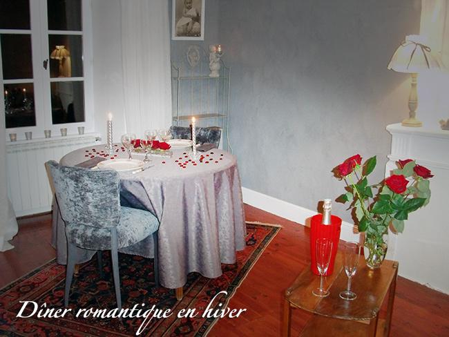 Dîner romantique en hiver